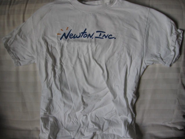 Front of Newton, Inc. Shirt
